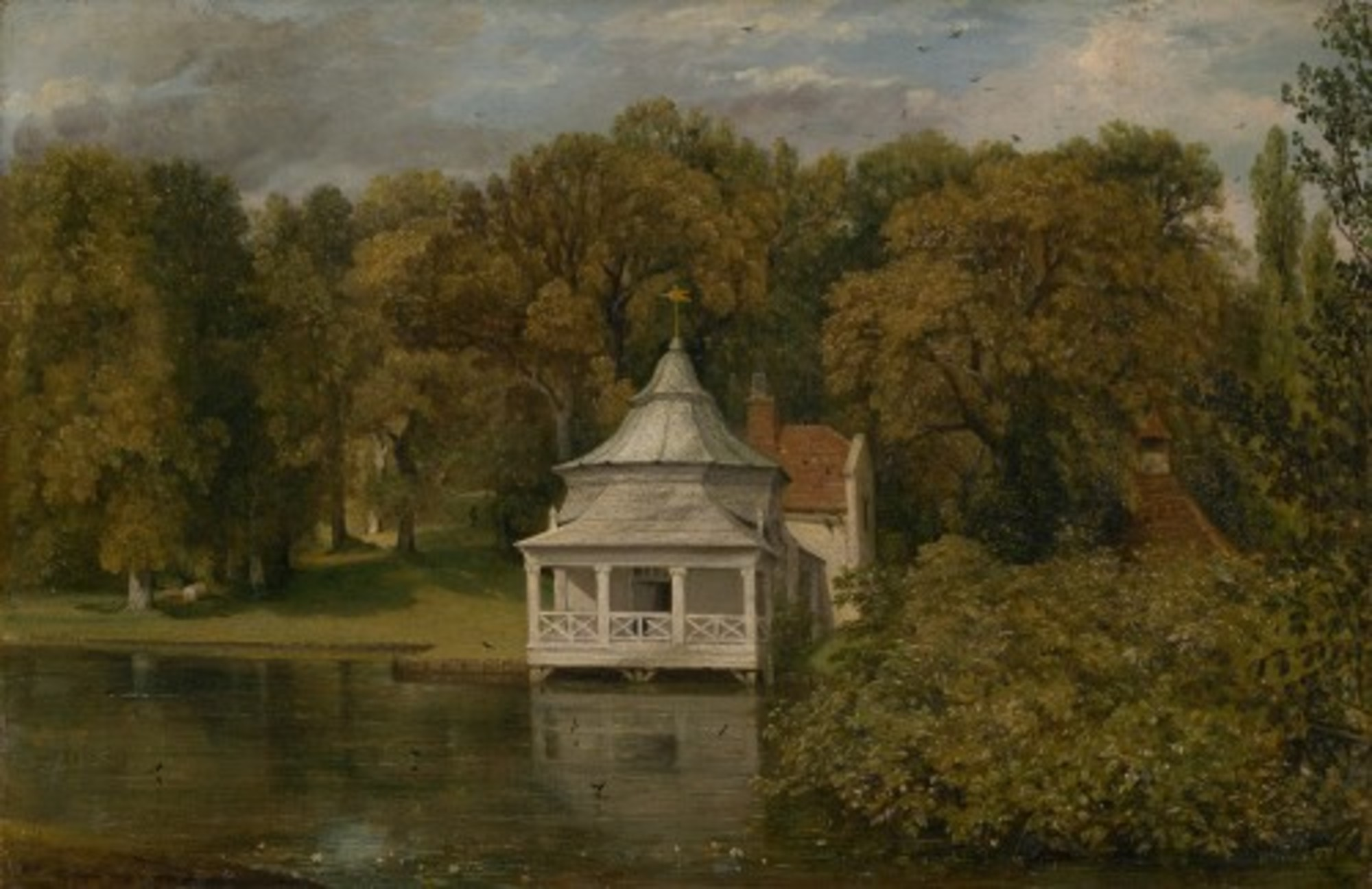 John Constable The Quarters behind Alresford Hall Google Art Project