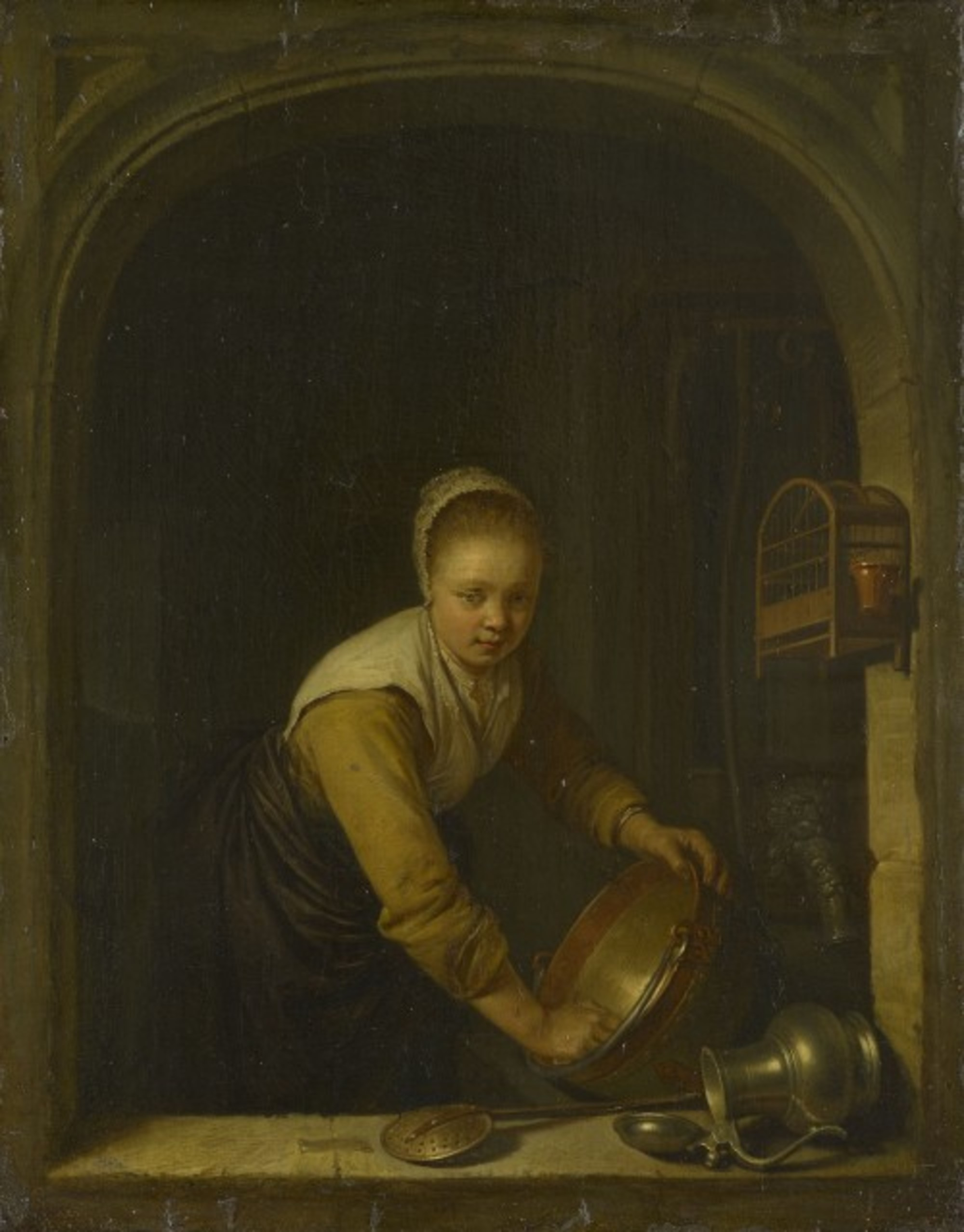 Gerard-Dou---Young-Girl-at-a-Window-scrubbing-a-Brass-Pan.jpg