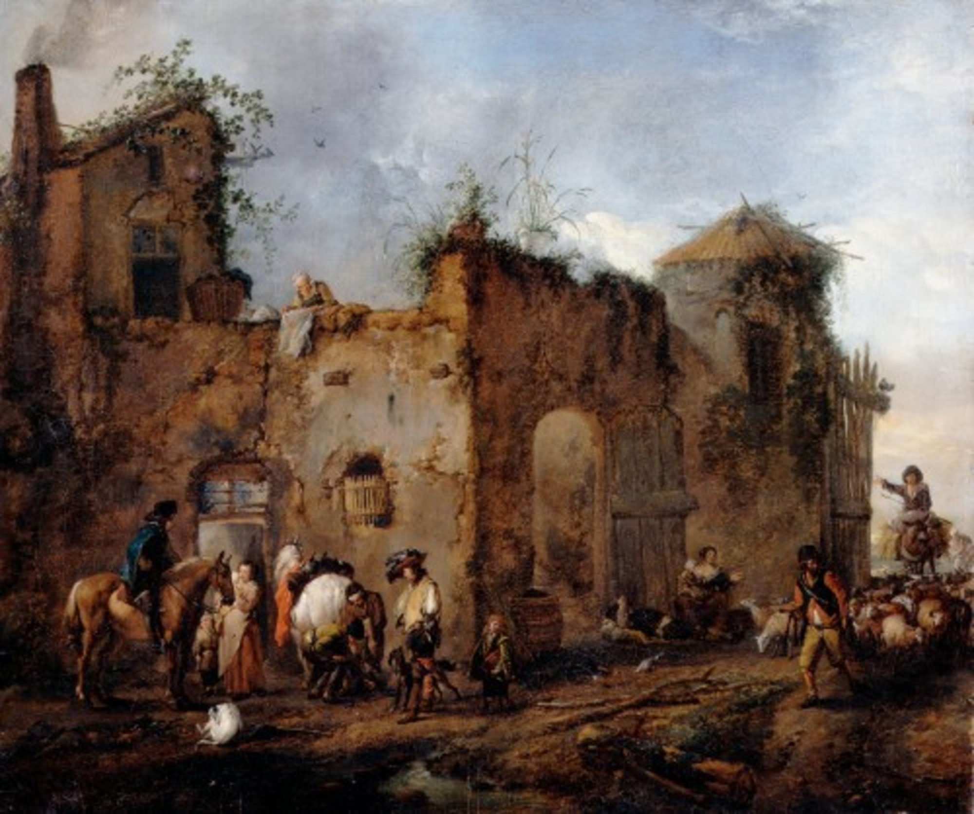 Wouwerman-Philips---Courtyard-with-a-Farrier-shoeing-a-Horse---Google-Art-Project.jpg