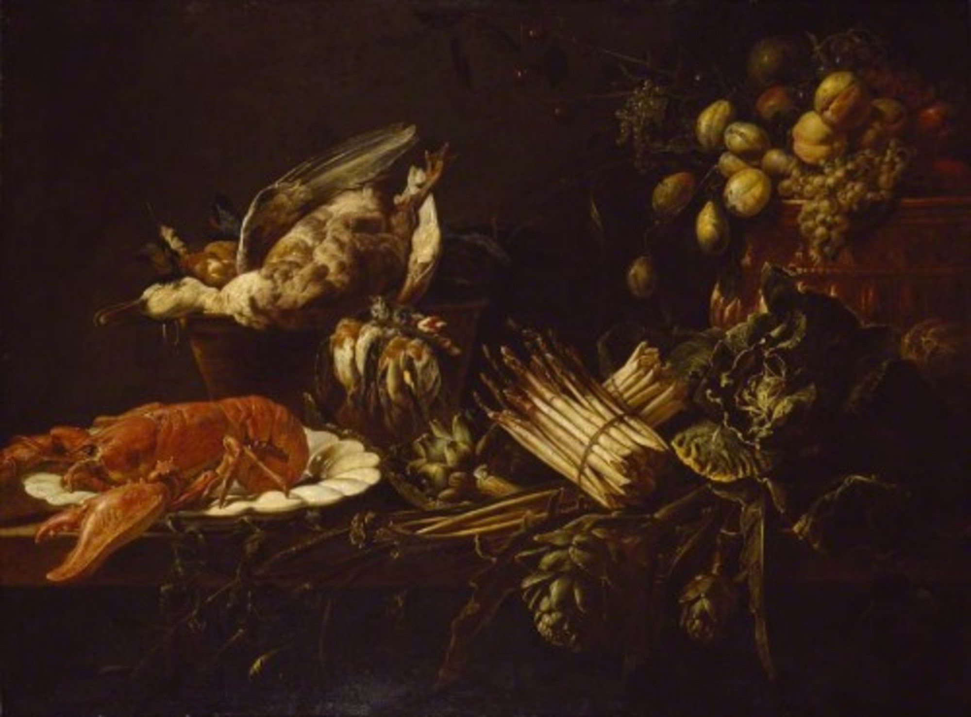 Adriaen-van-Utrecht---Still-Life-of-a-Lobster-Vegetables-Fruit-and-Game.jpg