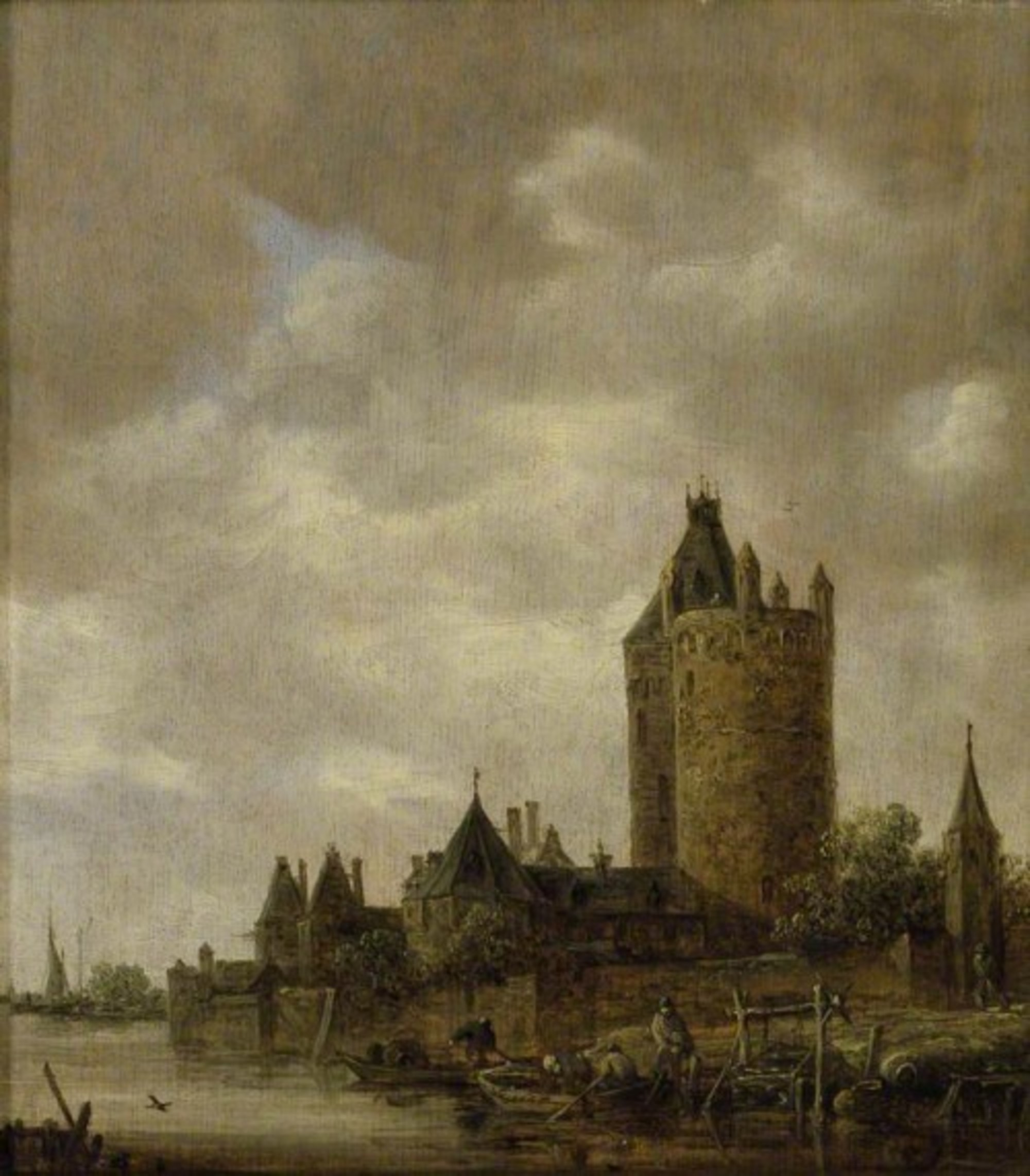 Jan van Goyen A Castle by a River ASH ASHM WA1962 17 15