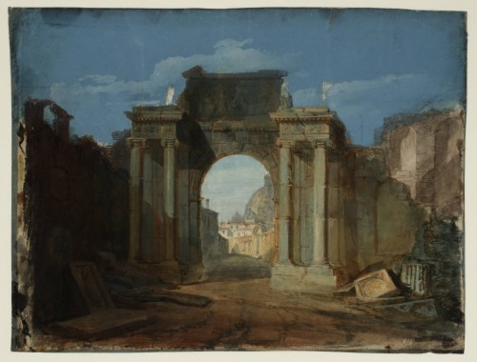 A-Capriccio-with-the-Dome-of-St-Peters-Rome-Seen-through-a-Ruined-Triumphal-Arch-1797.jpg