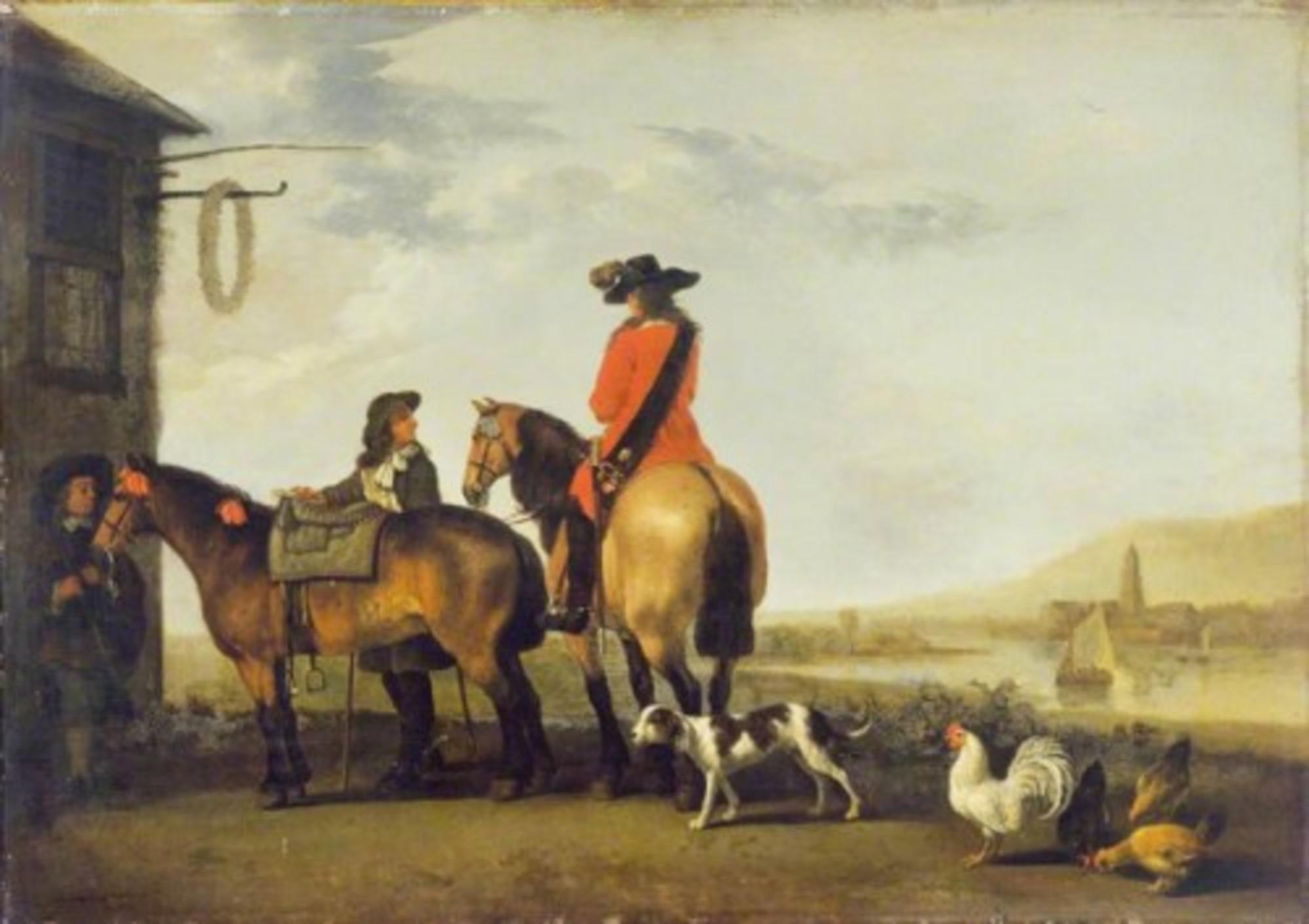 Abraham-van-Calraet---Two-Horsemen-at-a-Tavern-WLC-WLC-P172.jpg