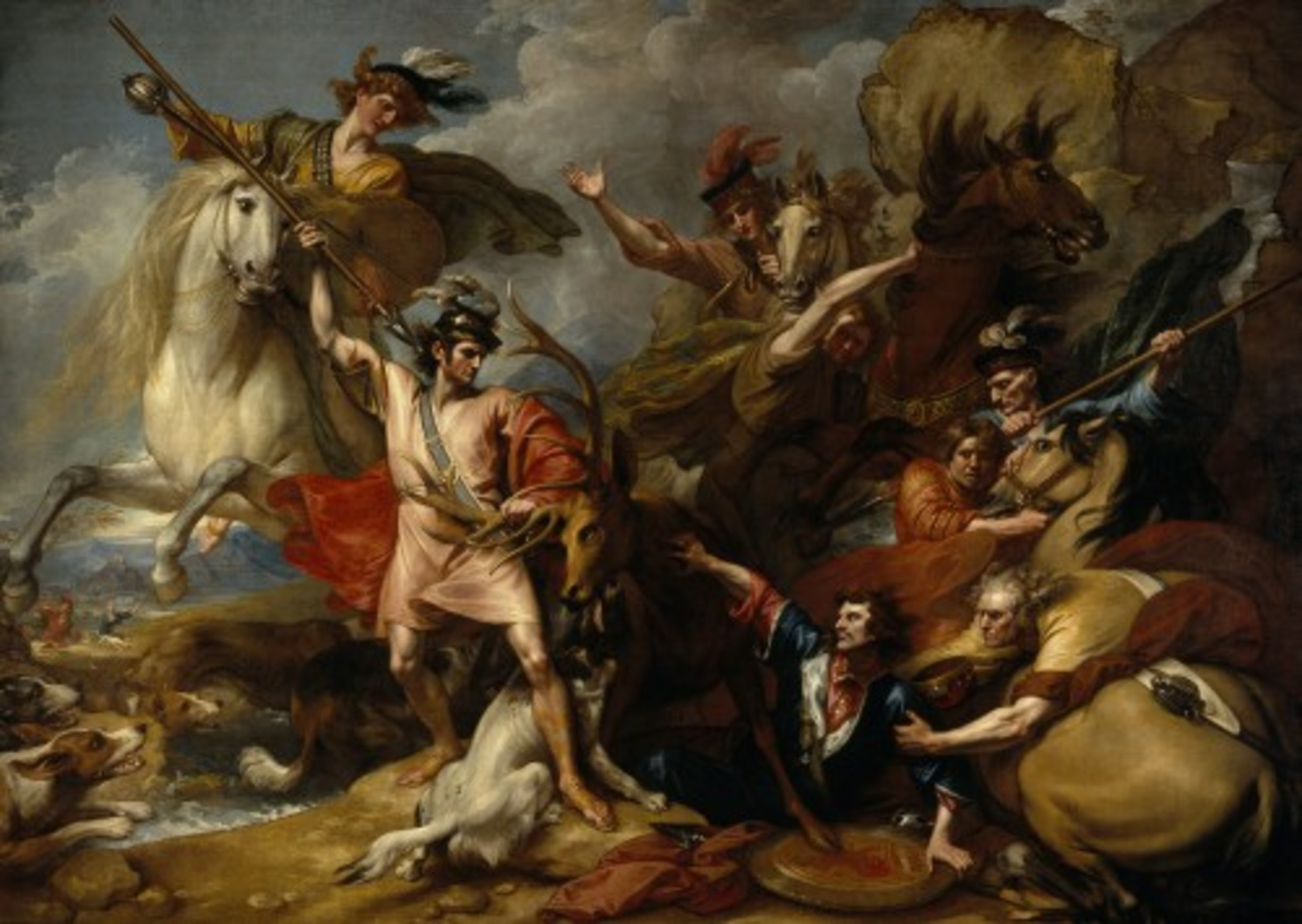 Benjamin-West---Alexander-III-of-Scotland-Rescued-from-the-Fury-of-a-Stag-by-the-Intrepidity-of-Colin-Fitzgerald-The-Death-of-the-Stag---Google-Art-Project.jpg