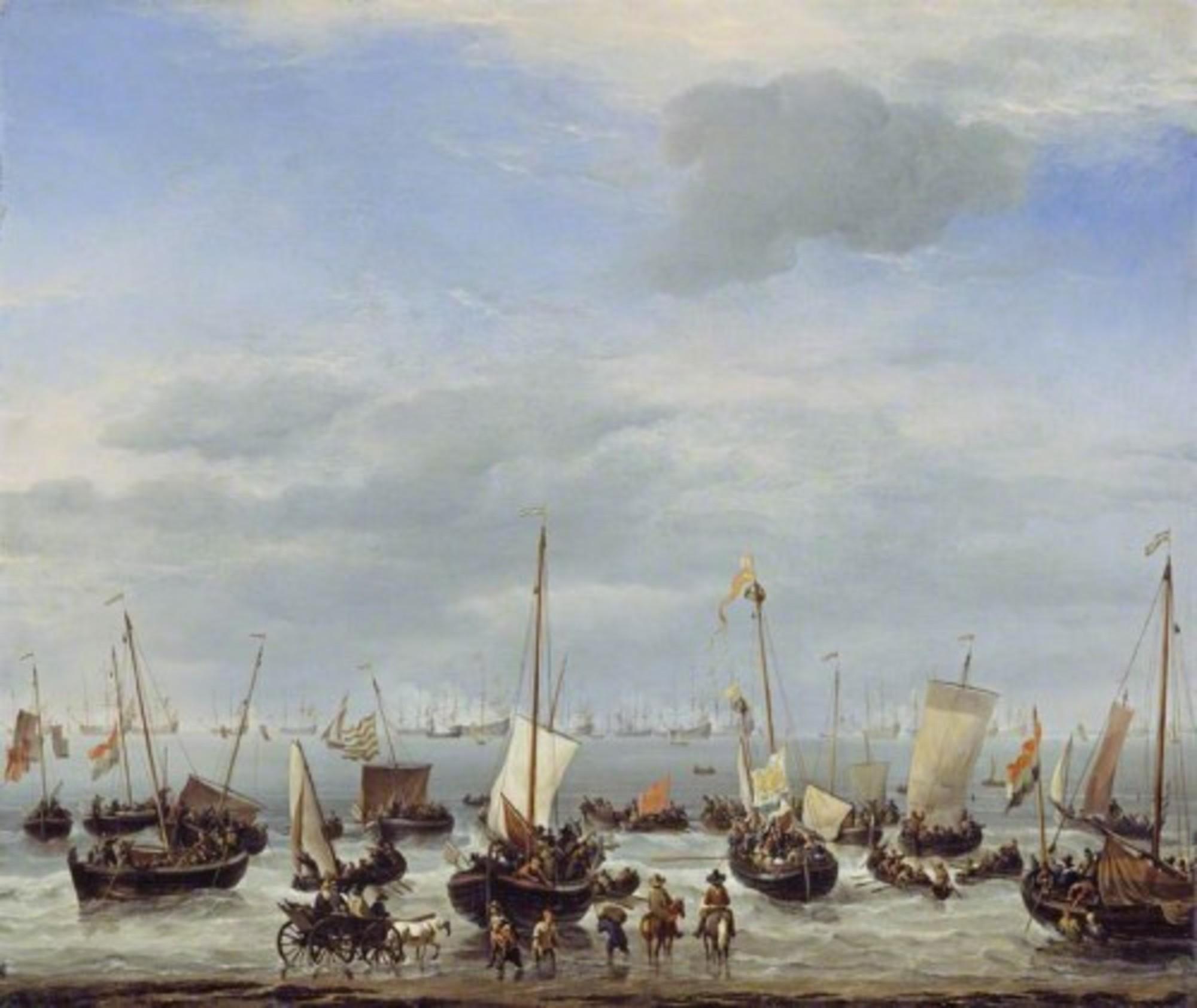 Willem-van-de-Velde-II---The-Embarkation-of-Charles-II-at-Scheveningen-WLC-WLC-P194.jpg