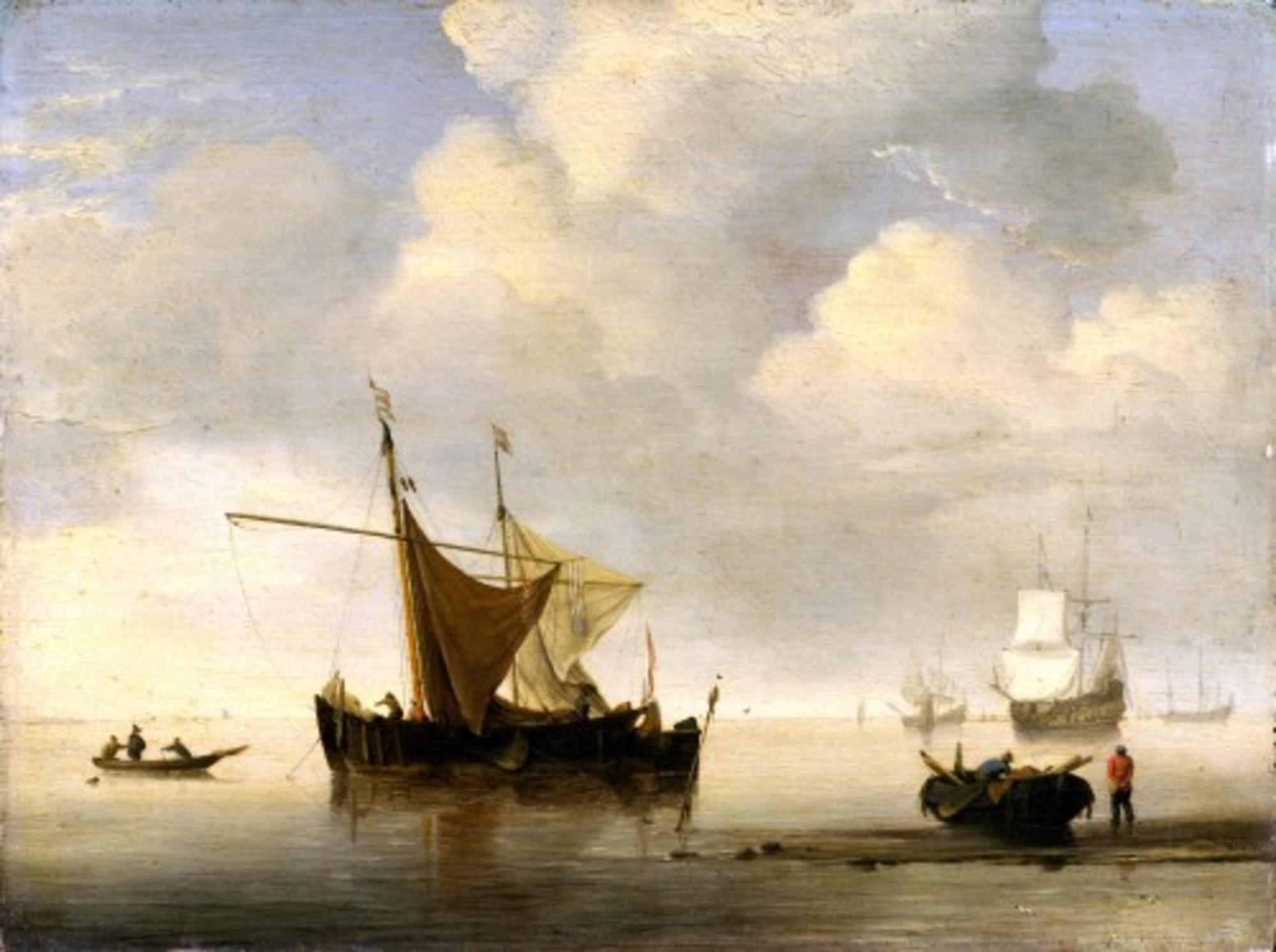 Willem-van-de-Velde-II-Studio-of---Calm-two-Dutch-Vessels.jpg