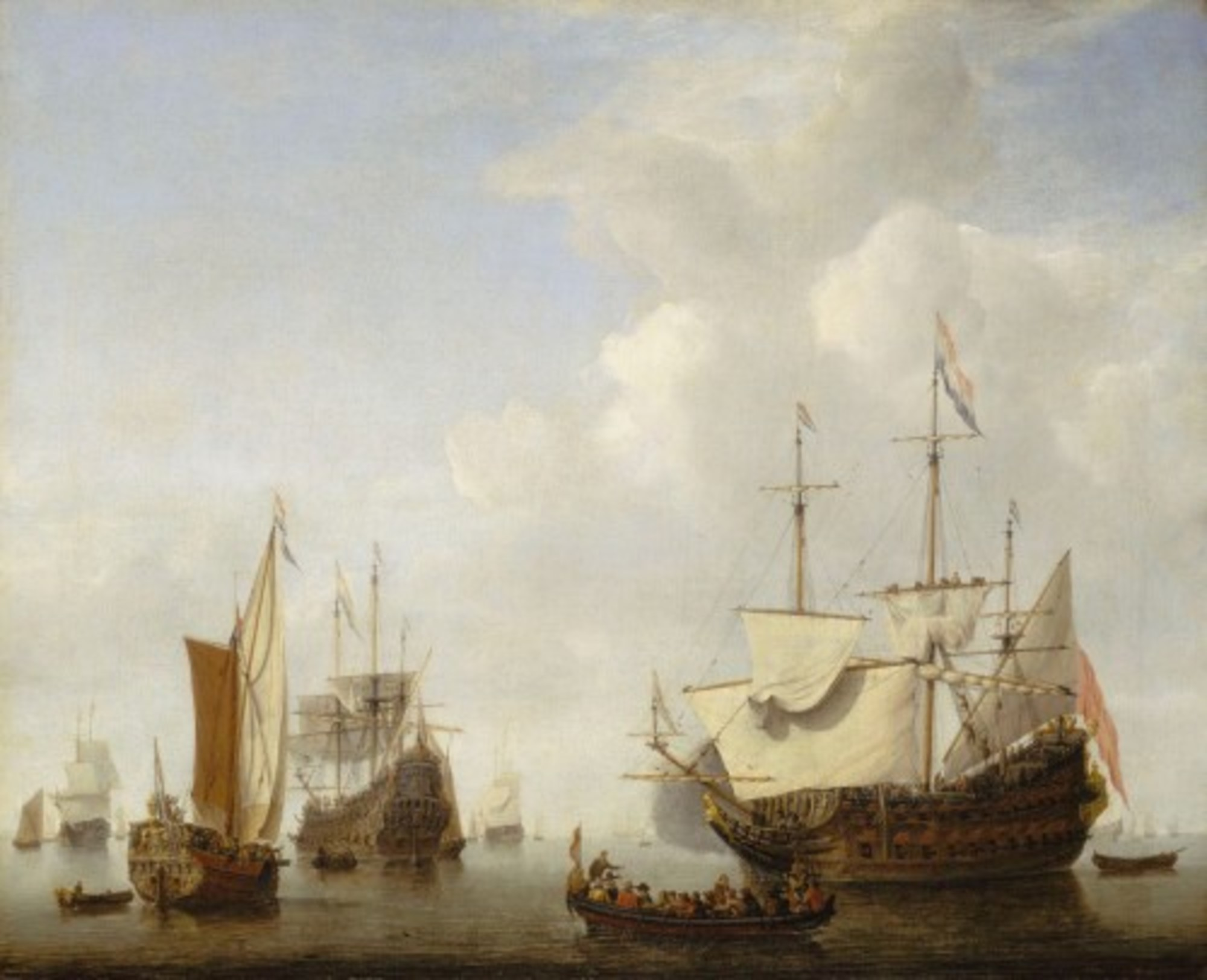 Willem-van-de-Velde-the-Younger---A-Dutch-Flagship-Coming-to-Anchor-with-a-States-Yacht-Before-a-Light-Air.jpg