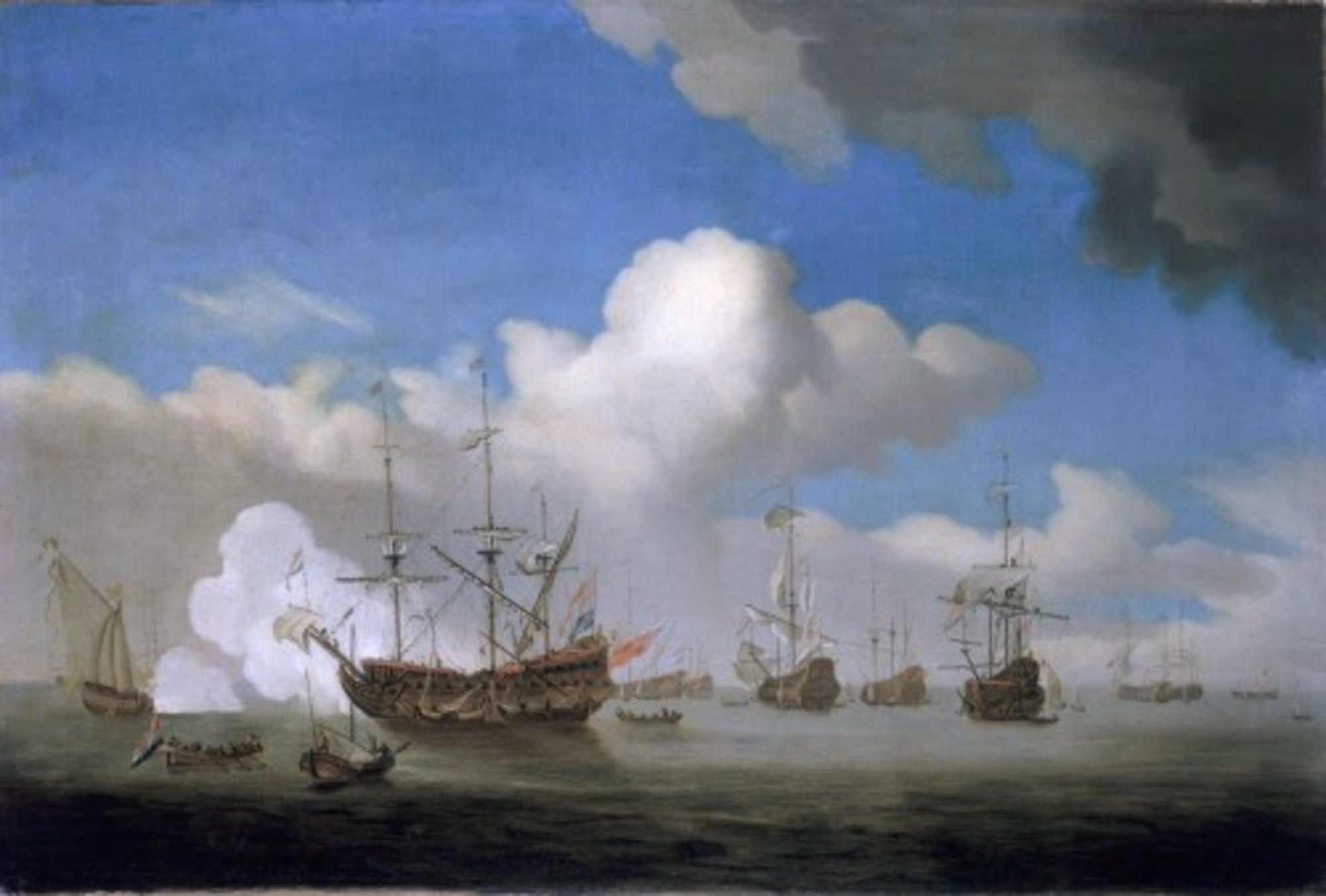 Willem-van-de-Velde-the-Younger---The-Captured-HMS-Royal-Prince-brought-into-Dutch-waters-after-the-Four-Days-battle-4-June-1666.jpg
