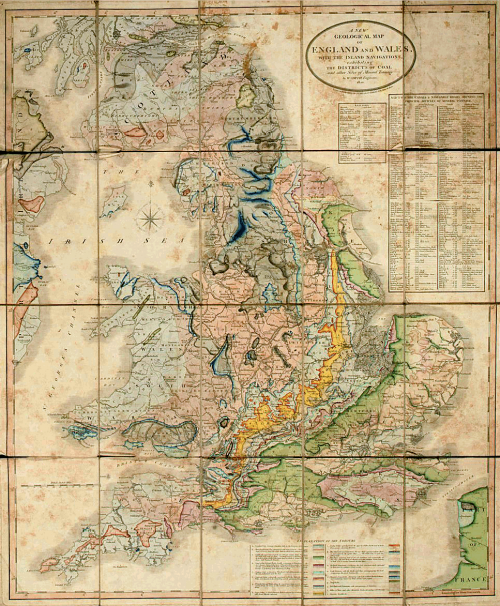A new Geological map of England and Wales by William Smith (1820)