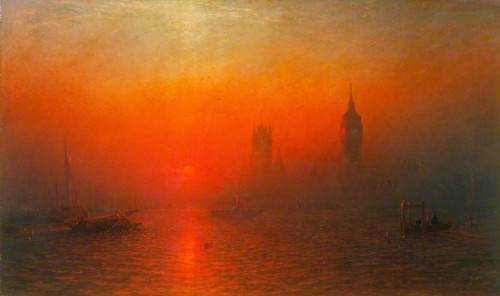 'The Houses of Parliament from the River', by James Francis Danby. Oil on canvas, 1864.